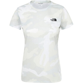 The North Face Reaxion Amp Cuello Barco Manga Corta Mujer, tnf white waxed camo print